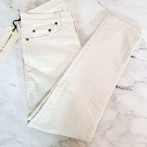 Rag & bone Tomboy White Corduroy Jeans